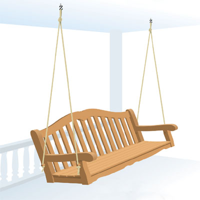 choosing between rope or chain to hang your own porch swing