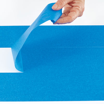 removing the middle layer of painter's tape known as the spacer