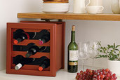 a wine rack made from a planter box