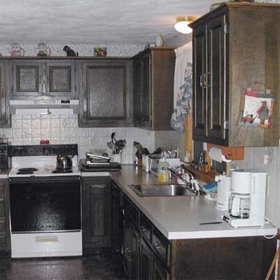 Cabinet Painting Old Kitchen Cabinets Before And After