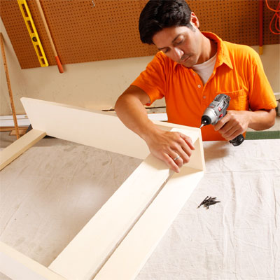 Assemble the Cabinet to build a murphy bed for your dog