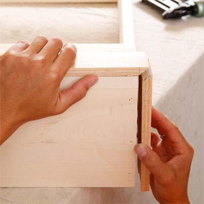 Cut and Attach the Baseboard Molding to build a murphy bed for your dog