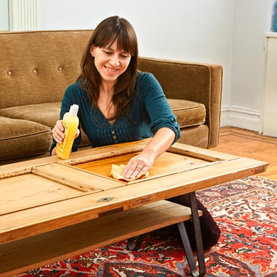 Apply a Protective Top Coat | How to Build a Coffee Table from a