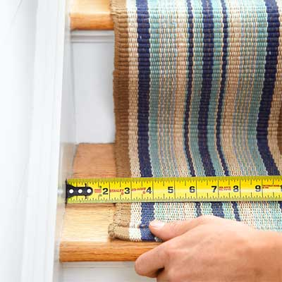 Size the Runner to Install a Flat-Weave Cotton Stair Runner