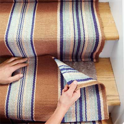 Mate the Second Runner to Install a Flat-Weave Cotton Stair Runner