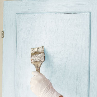 finish the interior when faux-finish painting furniture