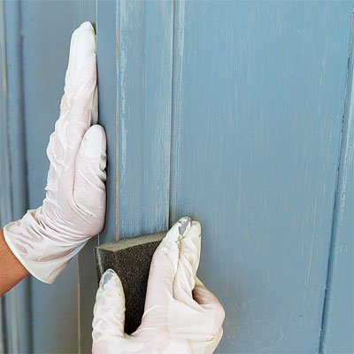 Sand to Finish when faux-finish painting furniture