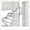 illustrated diagram for removing a painted-over hinge
