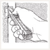 illustrated diagram for removing a painted-over hinge remove paint