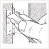 illustrated diagram for removing a painted-over hinge loosen hinge