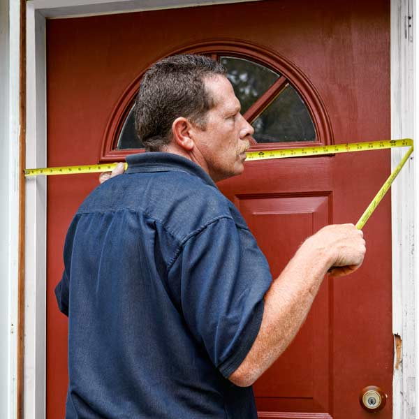 measuring exterior front door to install a storm door