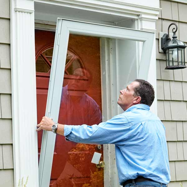 Put The Door In Place How To Install A Storm Door This Old House