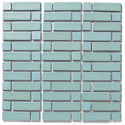photo of art tile in Modern Blue stitch pattern style