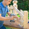 Build the frame: Attach the Balusters to Build a Decorative Driveway Marker
