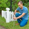 Install the Steel Rod to Finish to Build a Decorative Driveway Marker