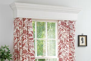 window cornice and treatment from How to Build a Window Cornice step-by-step