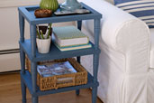 a 3-tiered side table