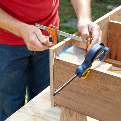 assemble the box to Build a Fold-Down Murphy Bar