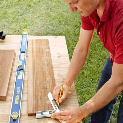 Make the Gable by Laying Out the Gable Ends to Build a Fold-Down Murphy Bar