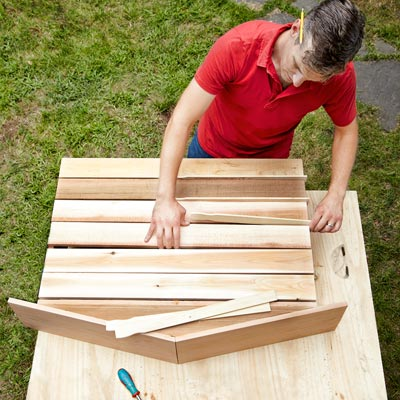 Lay out the back when Building a Fold-Down Murphy Bar