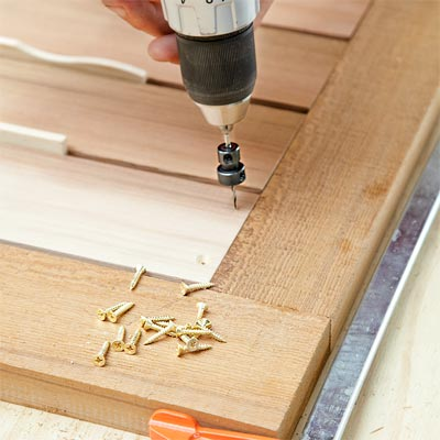 Make the Door by Attaching the Slats to the Frame when Building a Fold-Down Murphy Bar