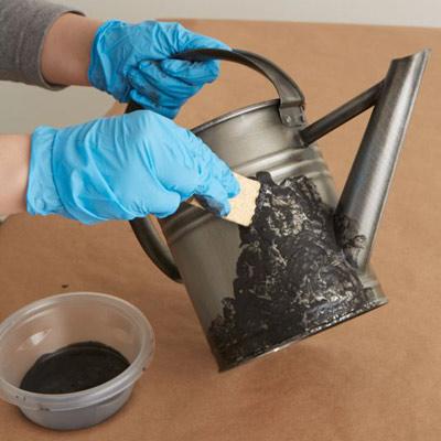 Rusting Paint Iron Coating Dab on Iron Paint