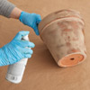 age a terra cotta pot seal surface with matte spray sealer