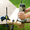 making a rabbet with a router for a picnic bench