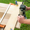 routing a rabbit into the slats for a picnic bench