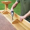 assembling a picnic bench