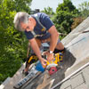 install watertight skylight using a circular saw to cut hole in roof for skylight