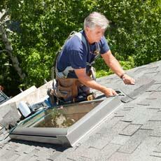 install a watertight skylight