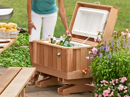 How To Build Cedar Ice Chest