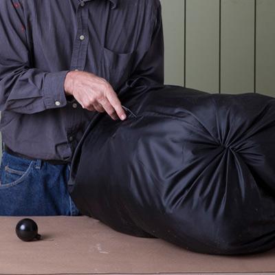 stuff nylong bags for body of giant yard halloween spider