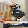 making the right inside miter cut with a miter saw