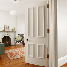a dressed-up hollow-core interior door