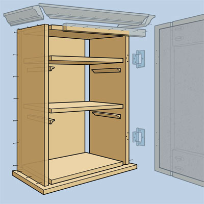 how to build storage cabinets