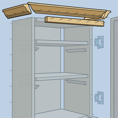 Attach the molding to build a Medicine Cabinet