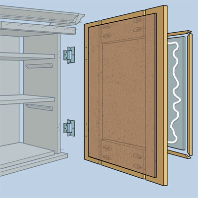 Construct the door to build a Medicine Cabinet