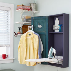 a finished shutter-door ironing cabinet