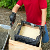 Fill the sides to make a concrete planter as a this old house weekend remodel project