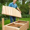Attach the Backrest to build a compost bench