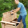 Install the Seat Lip to build a compost bench