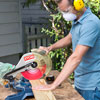 cutting the base parts with a miter saw