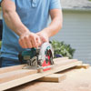 cutting the frame pieces with a circular saw