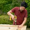 adding the filler strips to the sliding barn door