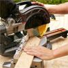 cutting corner of the chevrons for the sliding barn door
