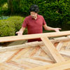 attaching the face frame of the sliding barn door