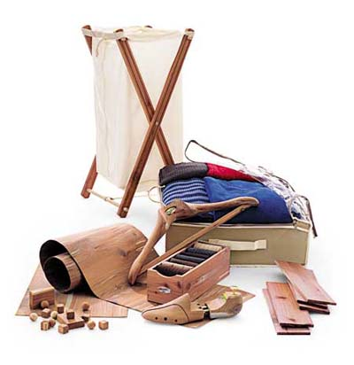 collection of cedar accessories