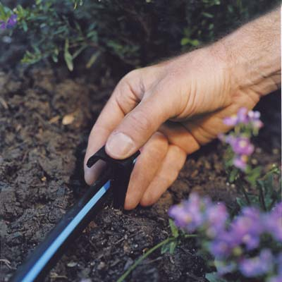 Install Ground Stakes How To Install Drip Irrigation